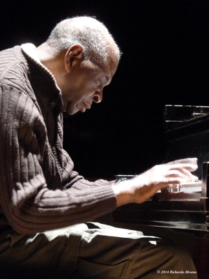 Muhal Richard Abrams in action at the piano.